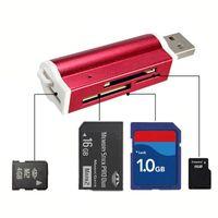 USB2.0 multi All in 1 Lecteur de carte mémoire adaptateur connecteur Pour Micro SD MMC SDHC TF M2 Memory Stick MS Duo RS-MMC + Packag détail