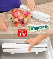 Wholesale HOT Wraptastic Dispenser Plastic wrap Preservative film cutter For Foil or Cling Wrap kitchen accessories
