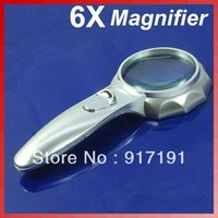 Wholesale X MM Handheld Magnifying Glass Reading Map Magnifier With LED Light order lt no track
