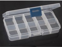 plastic food storage container - 800pcs Adjustable Compartment Plastic Clear Storage Box for Jewelry Earring Tool Container DHL Fedex