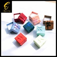 Wholesale FG PC Size CM Kinds Of Mixed Colors Jewelry Display Paper Gift Box Earrings Ring Box