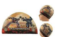 Wholesale Cartoon Children Swimming Caps Hot Fashion Spiderman Transformers Car Kids Hats Boys Girls Summer Beach Swimming Caps