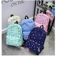 Wholesale Fashion Women Canvas Backpack Girls School bag Book bags Womens Rucksack Satchel Travel bag Daypack Students Shoulder bags B013