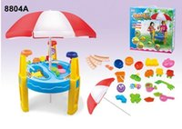 Wholesale Sand Water Table Sand Beach Table Great Summer Beach Tool Toys For Kids Pretend Play Toy