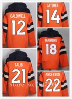 anderson grey - Factory Outlet Men s Aqib Talib Latimer Cody Payton Manning Andre Caldwell CJ Anderson Jersey Pullover Hoodies Sweatshi