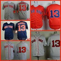 baseball trading - 30 Teams New Red Grey Hanley Ramirez Jersey Red Sox Baseball Jersey Blue White New Traded