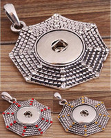 halloween cobweb - 2016 NOOSA Rhinestones Cobweb Ginger Snap Button Pendants Necklace with Interchangeable Jewerly Colors for choices