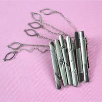 Wholesale Simple Men Necktie Silver Tone Metal Clamp Tie Clip Clasp Bar Pin Wedding Decor FZ2668