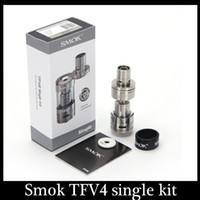 Wholesale New Smok TFV4 Tanks Clone TFV4 single kit Smoktech ml TFV4 Sub ohm Tank vs Aspire Atlantis v2 Kanger Subtank nano Billow v2 DHL