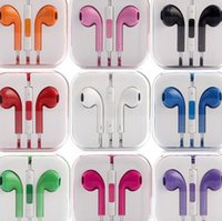 Wholesale Lowest price for ten colours MM In Ear Colorful Headset DJ Music Headphone With Mic Earphone For iphone Plus Universal Earbud