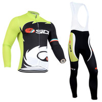 Wholesale 2014 SIDI cycling jersey cycling clothing bicycle clothing men Long Sleeve Bib long Pants Bike Clothes Breathable S XL