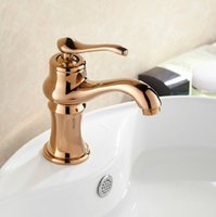 bathroom sink - Cloud Power Rose Gold Bathroom Taps with Deck Mounted Antique Brass Bathroom Sink Faucet Hot and Cold