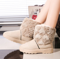 Wholesale New Fashion Women Winter Snow Boots Ankle Boots Warm Suede Boots Colors