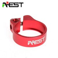 Wholesale AEST Road Bike MTB Seat Post Clamp Seatpost Clamp CNC mm AL6061 Bicycle Seatpost Parts g Red