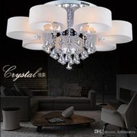 acrylic finish - New Arrival LED Ceiling Pendent Light Modern Style Chrome Finish Acrylic Chandelier Living Room Restaurant Roplight