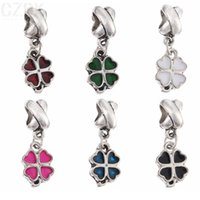 Wholesale PD83 Clover charms bead High quality Fit European Style Charms Bracelets pandent