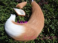 Wholesale Japan Anime Spice and Wolf Holo fox ears amp tail plush cosplay Costumes prop cm Handmade