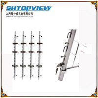 Wholesale LOC R metal wall Mount lockable eyeglasses holder sunglass show stand display rack with rock hold pieces