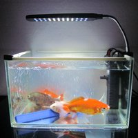 Wholesale Aquarium Accessories Fish Tank Water Plant LEDs W Clip Light Lighting Lamp Flexible Working Modes White Blue