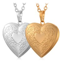 Trendy wholesale vintage jewelry - Vintage Lovely Heart Photo Locket Pendants K Gold Plated Choker Necklace Charms Floating Lockets Jewelry MGC P197