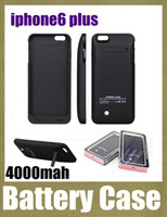 Wholesale Power case For iPhone plus Power Bank mAh Rechargerbale Flip Power Bank Backup iphone6 plus External Battery Charger Case BAC020
