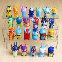 Wholesale Anime Cartoon cm Mini Slugterra PVC Action Figures Toys Dolls in opp bag Christmas gifts A