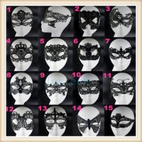 Wholesale Fashion lovely Party Mask sexy black lace mask half masks styles Halloween mask masquerade mask with lace for woman DHL