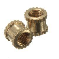 Wholesale Best Price Brass Knurl Nuts M3 mm L mm OD Metric Threaded Nuts Insert Round Shape