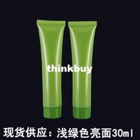 Wholesale 20pcs ml g cosmetic cream tube plastic packaging container Green Soft bottlesqqme