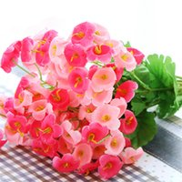 Wholesale New Artificial Flowers for Wedding Table Decorations Fake Silk Flower Campanula flowers Bouquet Home Decor Party Decoration