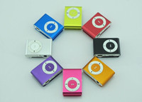 Wholesale HOT colors Mini Clip Mp3 player with earphones usb cables retail box support Micro SD TF card GB Sport Mp3 Free ship