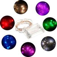 Lámpara de techo 2M 20LED batería Mini LED de cobre / Silver Wire cadena de luz AA pilas de hadas partido de la boda de Navidad Flashing LED tira