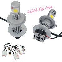 Wholesale New brand Car CREE H4 K LED Headlight Conversion Kit H L W Watt LEDs Lamp