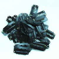 Wholesale Black teeths Metal Snap Clips mm For Hair Extensions Wig Weft