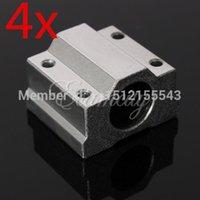 Wholesale 4pcs SC8UU SCS8UU mm Linear Motion Ball Bearing Slide Bushing Linear Shaft for CNC order lt no track