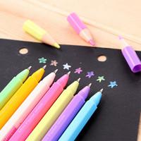 mini album - 7pcs color cute mini watercolor chalk pen for photo album decoration korean stationery highlight pen