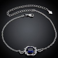Wholesale Foot Jewelry Anklet Silver Hamsa Anklets for Girlfriend Bracelet Silver Boho Jewelry Leg Bracelet Sterling Silver Korean Anklet