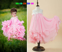 baby stores free shipping - in store Princess Pink Flower Girls Dresses Floor Length Sleeveless baby girl cute dress for parties