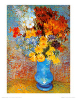 Wholesale Famous artwork Vincent Van Gogh oil Painting Reproduction Vase of Flowers Hand painted High quality