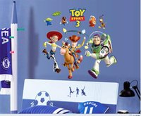 bedroom stories - Cartoon Wall Stickers Wall Art Sticker For Kid Room Removable Wall Stickers Nursery Wall Decoration Toy Story Wallpaper Gift For Boy