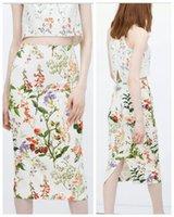 Wholesale Fashion Skirt Designer Women Clothing Elegant Vintage Work Bodycon Pencil Skirt Women High Waist Floral Printing Ladies Midi Skirts