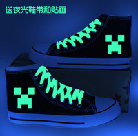 Cheap Minecraft canvas shoes men and women JJ strange increased high