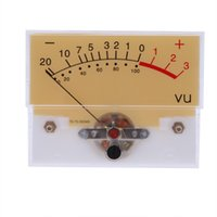 Wholesale Zinc Silver Rectangular Clear Plastic Shell Audio Amp Panel VU Volume Unit Level Meter Indicator order lt no track