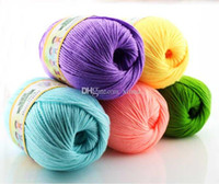 baby yarn lot - Warehouse g balls Worsted Cashmere Cotton Soy Soft Baby Knitting Yarn Sweater Wool Cashmere Support Mixed Purchase Yarns