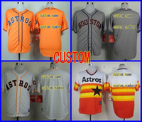 Baseball baseball shirts custom - 2016 New Cheap Houston Astros jersey stittched vintage CUSTOM Baseball jersey Cool Base Jersey sports shirt Personalized name and number