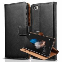 Wholesale Luxury Flip Genuine Leather Case For Huawei P8 Lite Durable Vintage Wallet With Card Holder Stand Phone Bag Business Style Capa