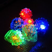 Wholesale LED Flashing Strawberry Finger Ring toy Bar Rave Toys Light Up Rubber Blinking Ring for Prom Party Christmas Gift