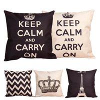 best massage cushions - BEST Linen Cotton Europe Style Keep Calm Letter Crown Cushion Cover Pillow Case Cushion Cover Home Sofa cm