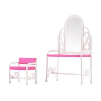 Wholesale New Dressing Table Chair Accessories Set For Barbies Dolls Bedroom Furniture