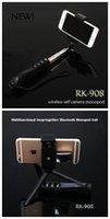 Wholesale Extendable RK RK908 RK Wireless Bluetooth Handheld Focusing Telescopic Tripod Selfie Stick Monopod Monpods modes for IOS Smartphone